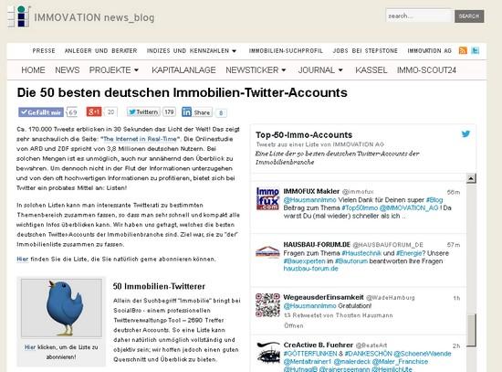 Die 50 besten deutschen Immobilien Twitter Accounts
