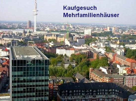 Kaufgesuch Hamburg Mehrfamilienhäuser und Wohnanlage