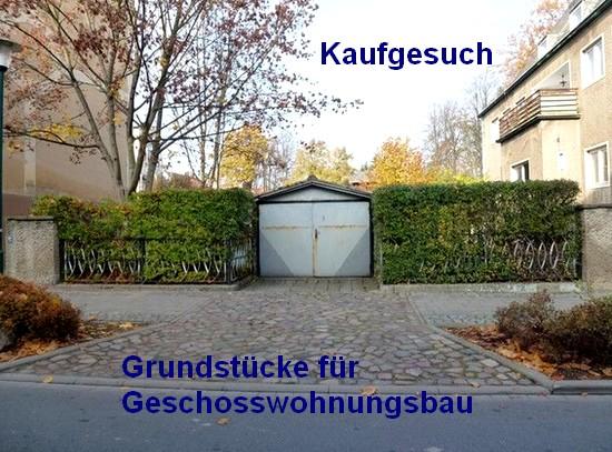 Kaufgesuch Grundstücke für Wohnungsbau in Berlin und Leipzig